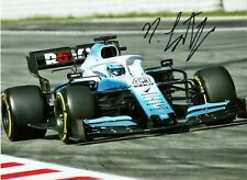 Nicholas Latifi 2020 F1 Formula Williams driver FW 42 Grand Prix signed photo