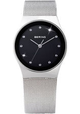 Bering Womens 12927-002 Classic Black Dial Stainless Steel Mesh Band SS Watch
