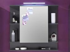 Spiegelschrank Tetis Kunststoff grau Trendteam 1330-403-21 (BHT 72x72x18 cm)