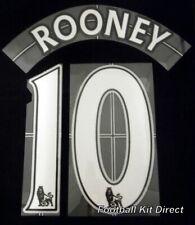 Manchester United Rooney 10 Premier League Football Shirt Name Set Lextra 7-13