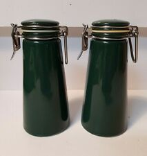 Salt and Pepper Shakers with Top Latch Openers