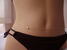 BEAUTIFUL GOLD PLATED STAR BELLY NAVEL WAIST CHAIN 87 CM LENGTH
