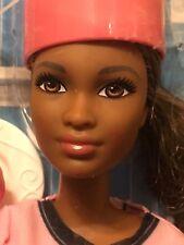 African American Career Series Barbie - Cupcake Chef with Pink Baker's Coat  NIP