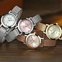 WWOOR Women's Stainless Steel Mesh Strap Watch Waterproof Quartz Wrist Watches