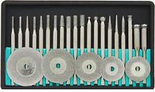 Diamond Polishing Set 25 pc. Bit Cut Off Wheels Lapidary Jewelry Fits Dremel