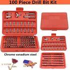 100-pc Accessory Kit Drill Bit Driver Screw Tools Set 31639 Case New OY