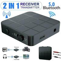 2in1 Bluetooth 5.0 Audio Transmitter Receiver Adapter Connector O2T8