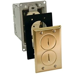 Hubbell Raco 6500BR 6500BR-5 Rectangular Floor Box, 1-Gang, Brass