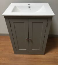 Painted Vanity Unit Furniture 600W  Wash Stand Cabinet with Ceramic sink/Basin