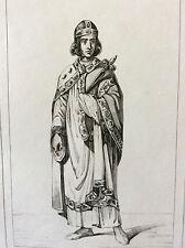 Estampe empire occident Vitikind milieu XIXe siècle