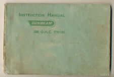 SUNBEAM, instruction manual 500 O.H.C. Twin 1952, exc+