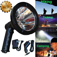 Handheld Cree LED Hunting Spot light Lamp Torch in Car Charger 100W 5''inch