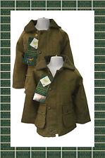 Kids Derby Tweed Shooting Hunting Country Jacket Coat Kids 20-34 Light Dark SAGE