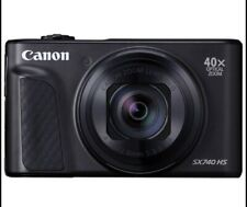 Canon black SX740 HS powrshot camera. Inludes battery, charger etc.