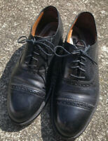 Men's Florsheim Imperial Oxfords Dress Shoe Size 8.5 D Black Leather Cap Toe USA