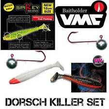DORSCHKILLER - 3 Farben SET Fox Rage Spikey 12 cm + VMC BAITHOLDER 6/0 140 g