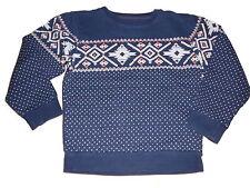 H & M toller Pullover Gr. 110 / 116 blau mit genialer Musterung !!