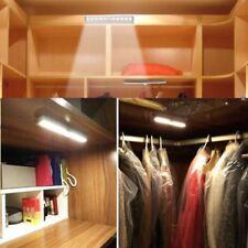 Automatic PIR Motion Sensor 10 LED Night Light Kitchen Closet Drawer Stick-on UK