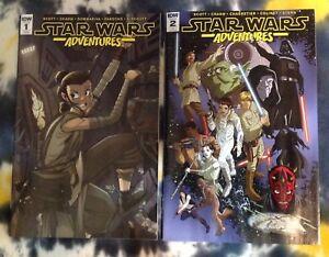 STAR WARS ADVENTURES #1 & 2  RI variant covers (2017) - Marvel Comics