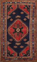 Vintage Geometric Oriental Traditional Area Rug Hand-knotted Wool Carpet 4x7