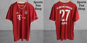 FC Bayern Munich #27 Alaba 2020/2021 Home 2XL shirt jersey trikot football XXL
