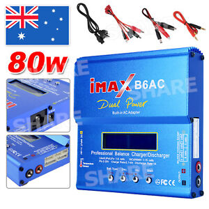 iMax B6AC 80W RC Lipo Charger Lithium NiMh Digital Battery Balance Discharger