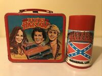 VINTAGE DUKES OF HAZZARD LUNCHBOX W/THERMOS - ALADDIN - VERY NICE & CLEAN