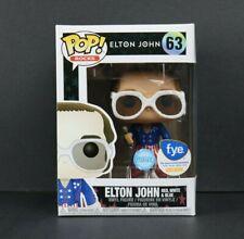 Funko Pop Rocks Glitter Elton John Red White and Blue Fye Exclusive W/ Protector