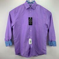 Society Of Threads Mens Slim Fit Non-Iron Dress Shirt 15 - 15 1/2 33/34