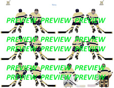 Coleco Table Hockey College Navy Gold Team Custom Decal Sheet