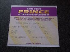 PRINCE  TICKET STUB  EARLS COURT  17th  JUNE 1992