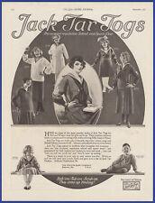 Vintage 1921 JACK TAR JOGS School Sports Wear Children's Fashion Print Ad 1920's