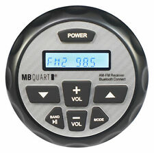 MB Quart GMR-2.5 Bluetooth Gauge Stereo Receiver w/Aux For RZR/ATV/UTV/Cart
