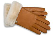 UGGS AUSTRALIA Gloves Classic Leather Smart Phone Glove Chestnut Shearling S New
