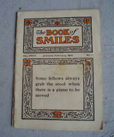 1922 Booklet The Book of Smiles Sayign and Stories