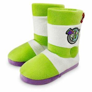 Disney Toy Story Buzz Lightyear Soft Boot Slippers Kids 5/6 7/8 9/10 11/12 13/1