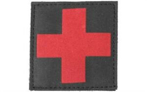Blackhawk Red Cross Medic ID Uniform Patch 2.5 In Square Black 90RC00BK