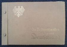 "6307 GERMAN WW2 ORIGINAL "" POSTKARTE series collecters ALBUM ( only) "" 1939-1942"