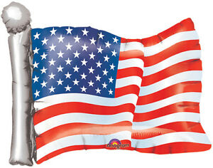 """4th OF JULY BALLOON 27"""" INDEPENDENCE DAY UNITED STATES OF AMERICA FOIL BALLOON"""