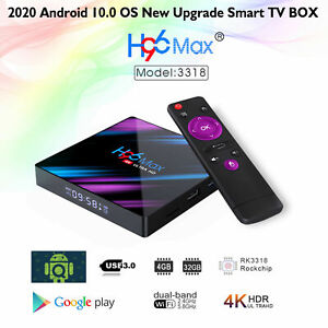 Details about  H96MAX Android 10.0 Smart TV Box 4+32G Quad Core Dual WiFi BT 4K