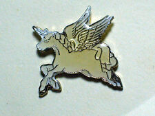 Vintage Flying White Unicorn  Pegasus Pin (yellowing see pictures)