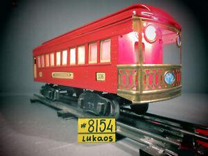 Lionel    Standard Gauge  OBSERVATION  PASSENGER Car # 338 REPAINTED IN RED.