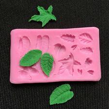 3D Leaves Vein Silicone Fondant Mould Cake Decor Baking Icing Sugarcraft Mold
