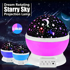 Rotating Projector Starry Night Lights Star Sky Projection LED Gifts Room
