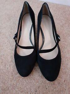 M&S Footglove Black Shoes Size 5