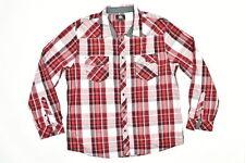 Rock & Republic Men's Size 2XL Button Shirt Long Sleeve Plaid Multicolor  Plaid