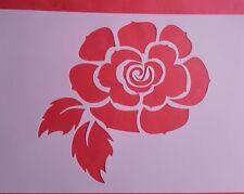 1364 Schablonen Blume Vintage Stanzschablonen Stencil Rose Shabby Tattoos Foto