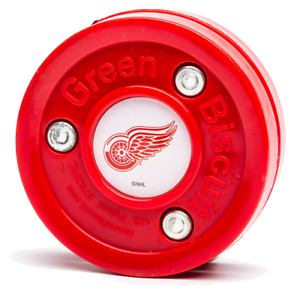 Green Biscuit NHL Detroit Wings Puck
