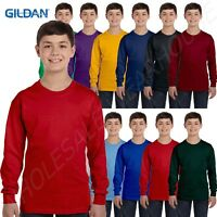 NEW Gildan Heavy Cotton Youth 5.3 oz Long-Sleeve XS-XL T-Shirt G540B