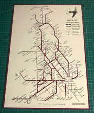 BR Inter City Replica Routes Of Britain 1993 Map Signs Stickers & Magnets